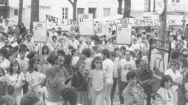 Ato 1º de maio em 1987.