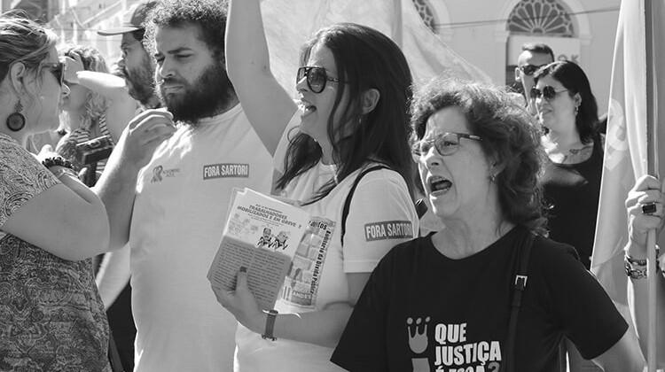 Campanha contra a PEC da morte em 2016.