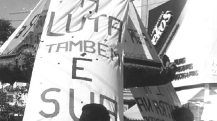 """Campanha """"Reitor eleito tem que ser nomeado"""" em 1988."""