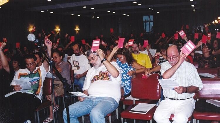 Congresso ANDES-SN em Juiz de Fora em 2000.