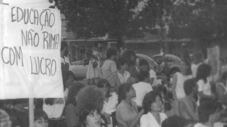 Defesa do prédio do ICH em 1987.