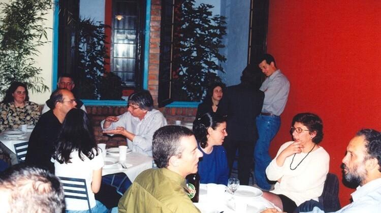 Festa de final de ano em 1999.